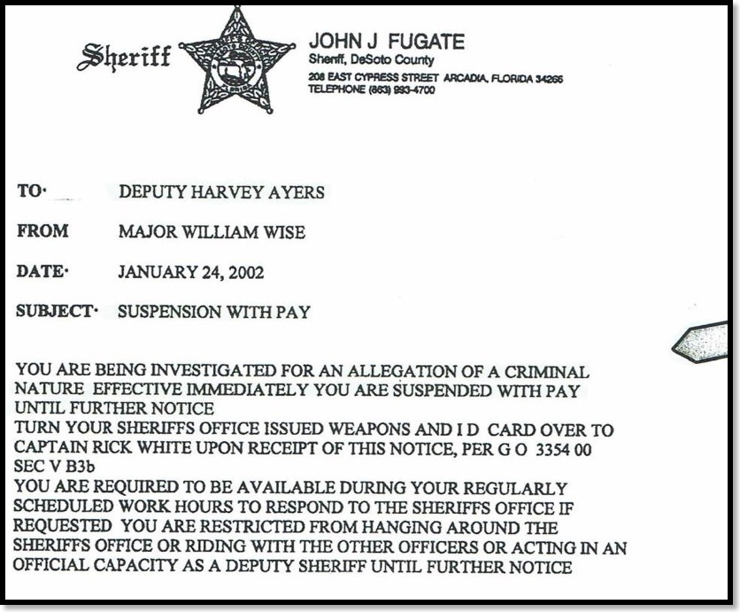 Harvey Ayers was investigated for Sexual Assault 10