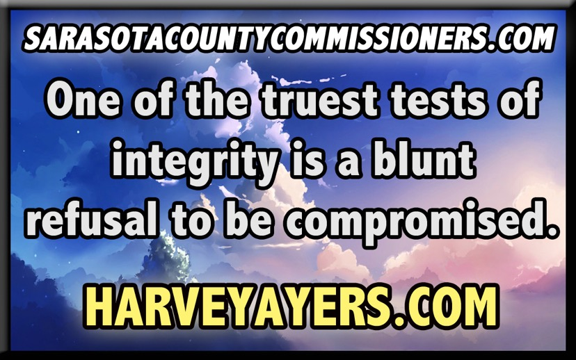 SARASOTA COUNTY COMMISSIONERS INTEGRITY